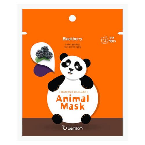 BERRISOM Animal Mask Маска тканевая Blackberry Панда