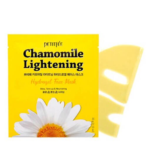Petitfee Гидрогелевая маска Chamomile Lightening Hydrogel Face Mask экстрактом ромашки
